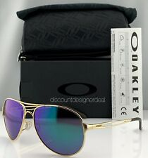 Oakley Caveat Aviator Sunglasses OO4054-15 Gold Metal Frame Jade Iridium 60mm