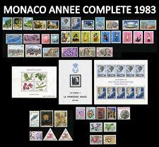 MONACO 1983 ANNEE COMPLETE Neuve** 46 TIMBRES dt TAXE PREO & 3 Blocs Cote : 160€