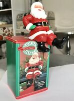 1988 Vintage Hallmark Santa Claus Christmas Stocking Hanger Super Strong