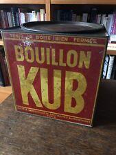 Grande Boîte BOUILLON KUB 250 barres vers 1930 en très bel état d'origine