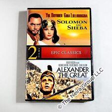 Solomon and Sheba / Alexander The Great DVD New Yul Brynner Richard Burton