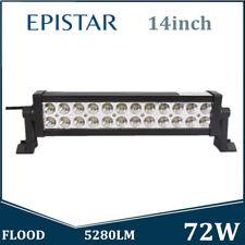 2PCS 14inch 72W LED Work Light Bar Flood Beam Epistar Offroad Driving Truck 4WD