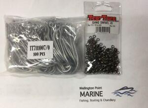 Truturn 711 7/0 Hooks 100 Pack And TruTurn Gang Swivel #2 72 Pk - VALUE PACK