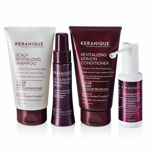 Keranique Color Boost Hair Regrowth Treatment System with Keratin, 30 Days