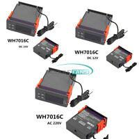 DC12V/24V AC220V Digital Temperature Controller Thermostat LCD Display WH7016C