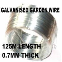 ROLL OF ZINC COATED GALVANISED GARDEN WIRE 125m x 0.7mm