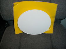 NEW UNIVERSAL VINTAGE MX FRONT NUMBER PLATE OVAL GLOSS WHITE, YZ OR RM YELLOW