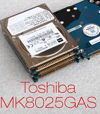 """80 gb 2,5"""" 6,35cm IDE pata HDD disco duro Toshiba mk8025gas a5a000465 defectuoso-b1"""