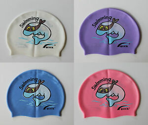 Learn to Swim Cap Silicone Kids Boys Girls Children Swimming Cap bathing SMC04
