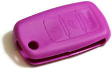 Purple Key Fob Cover Jacket Silicon Pouch Bag fits Volkswagen