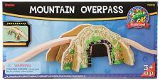 NEW MAXIM MOUNTAIN OVERPASS & TRACK SET TOY wooden train bridge tunnel 50448  AA