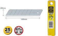 20 x GENUINE OLFA HB-20 25mm EXTRA HEAVY DUTY BLADES