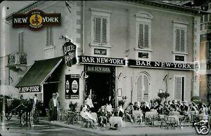 Caffe Bar New York Blechschild Schild 3D geprägt gewölbt Tin Sign 20 x 30 cm