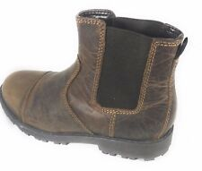 Marks and Spencer Slip on Boys Coffee Brown Leather Chelsea Ankle School Boots
