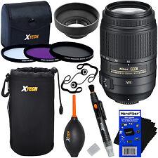 Nikon AF-S DX 55-300mm f/4.5-5.6G ED VR Zoom Lens+11pc Kit f/D5300 D5500 & D5600