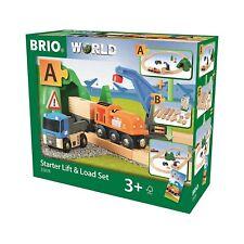 BRIO 33878 - Bahn - Starterset Güterzug mit Kran
