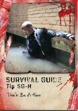 Walking Dead Survival Box Survival Guide Chase Card #SG-H Don't Be A Hero
