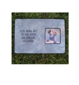 Memory Stone Photo Frame For Pets and Dogs pets Bring Joy to Our Lives