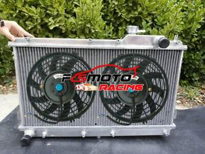 Alu Radiator + FAN For Mazda Miata MX5 MX-5 MX V NA B6 B6ZE I4 1.6L 1.8L 1990-97