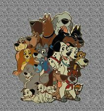 Disney Dogs Jumbo Pin - All of the Disney Dogs! - Disney Auctions Pin LE 100