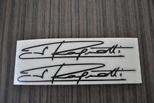 2x Stickers autographe Jean Ragnotti ,rally, r5 turbo 2x14cm