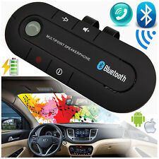 Inalámbrico Bluetooth Manos Libres Kit De Coche Portable clip Altavoz Para iPhone Samsung