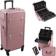 Hiker Hk6501Pppk Pink Pro 4-Wheel Makeup Case