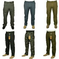 Jack /& Jones Mens Casual Cotton Anti Fit Cargo Khaki Army Trousers Pants 2525