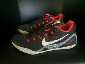 Nike Kobe 9 Em Crimson Mens size 13 black Basketball shoes
