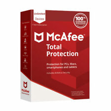 McAfee Total Protection 2018 Unlimited Devices 1 Year MAC, Windows Worldwide Key