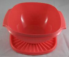 Tupperware Sonnendeckelschüssel Schüssel mit Sonnendeckel 2 l Lachs Rot Neu OVP