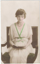 Miss Winifred Barnes - Rotary Photo Hand-Painted real photograph - Posted