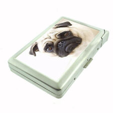 Dog pug cute Cigarette Case w/ Built In Lighter