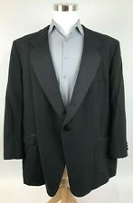 Unbranded Black Tux Jacket One Button Tuxedo Coat Portly Mens 50 PR 48 S