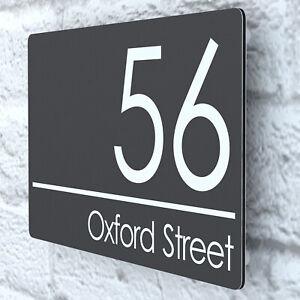 Modern House Number Plaques Composite Aluminium Signs Door Plaque Numbers