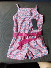 Emoi Sleeveless 100%Cotton Floral Shorts Playsuit 3yrs 98cm Pink Mix BNWT