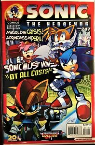SONIC HEDGEHOG Comic Book Issue #247 May 2013 AT ALL COSTS PT 1 Bagged Board VF
