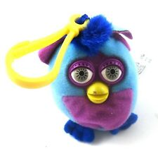Furby Plush Backpack Purse Bag Clip Keychain 2000 McDonald's Blue & Purple