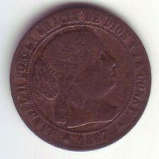 Devise 1/2 Centime D'Escudo Isabelle II - Année 1867 Om - Jubia