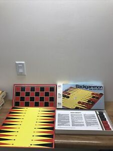 Vintage 1973 Backgammon and Acey-Deucy Game Milton Bradley W/checker Board NEW