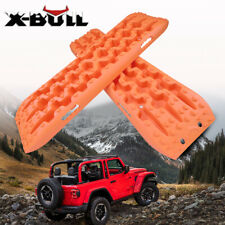 X-BULL Recovery tracks Sand Mud Snow Track New 10T 4WD Off-road 1Pair Orange