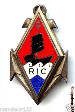 TROUPES COLONIALES. 22 eme Rgt d'Infanterie Coloniale en ARGENT, RIC. Fab. DOM