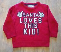 "Xmas Christmas jumper age 2 - 3 years Primark "" Santa loves this kid ! """