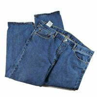 Levis Mens 505 Classic Straight Jeans Blue Pockets Regular Fit Medium Wash 42x30