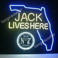 "/""JACK LIVES HERE/"" Restaurant BEER Bar  Neon Sign Light Window Wall Poster18/""X14/"""