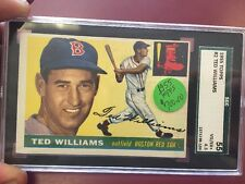 1955 Topps #2 Ted Williams Boston Red Sox SGC 55  VGEX+ 4.5