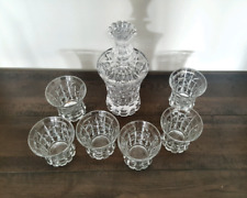 NEW Vintage Look Whiskey Decanter, 6 Glasses & Whiskey Stone Set