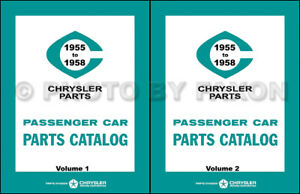 1955 1956 1957 1958 Mopar Teile Buch Katalog Dodge Auto Plymouth Chrysler Desoto