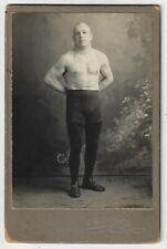 Vintage Photo Cabinet Card of a Wrestler Bessemer Michigan