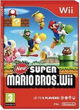 * nuevo Super Mario Bros - 2009 Nintendo Wii Juego 'Completo con Manual y estuche' *